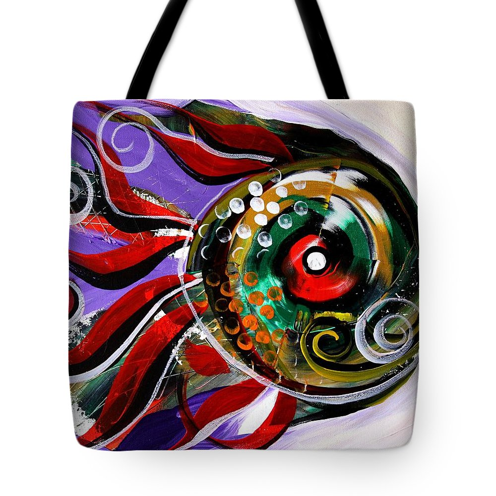 Fish Tote Bag featuring the painting Salvador Dali Octo Fish by J Vincent Scarpace
