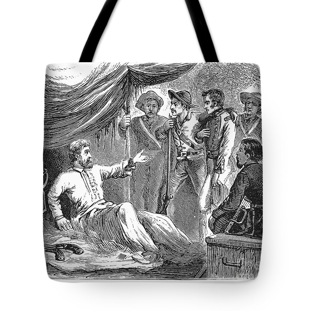 1836 Tote Bag featuring the photograph Samuel Houston (1793-1863) by Granger