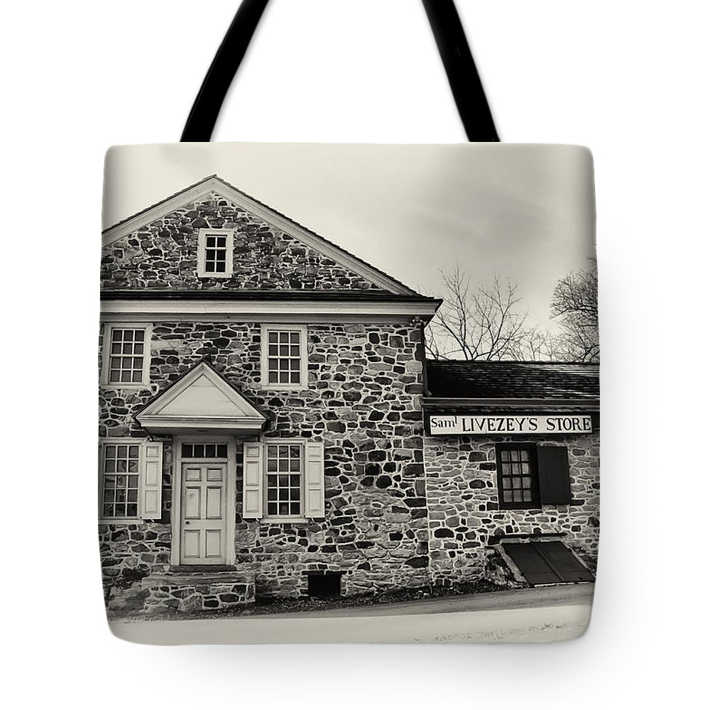Samuel Livezey's Store Tote Bag featuring the photograph Samuel Livezey's Store by Bill Cannon
