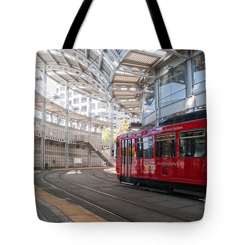 California Tote Bag featuring the digital art San Diego by Carol Ailles