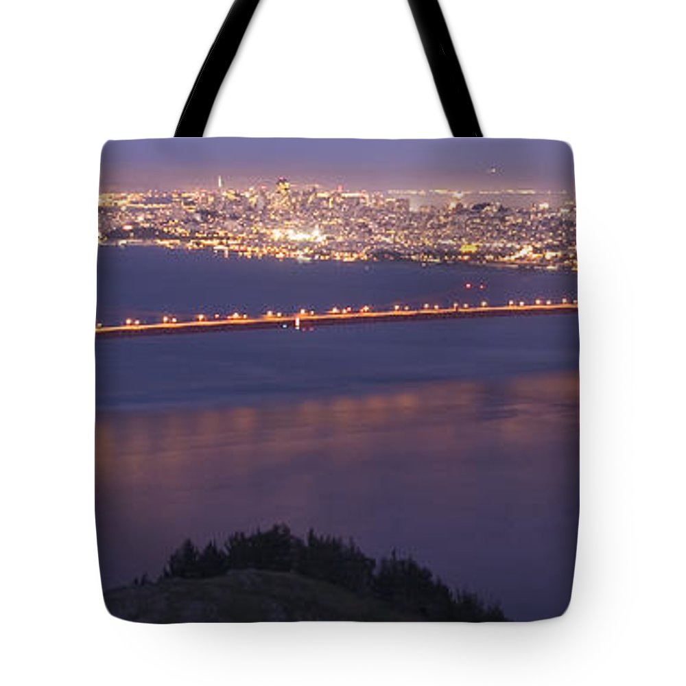 San Francisco Dusk Tote Bag featuring the photograph San Francisco Dusk by Wes and Dotty Weber