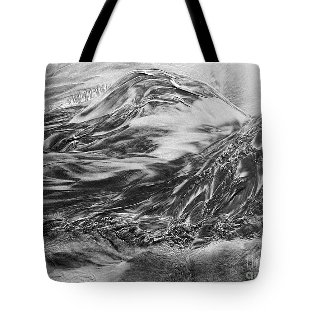 Sand Tote Bag featuring the photograph Sand Painting 10 by Newel Hunter
