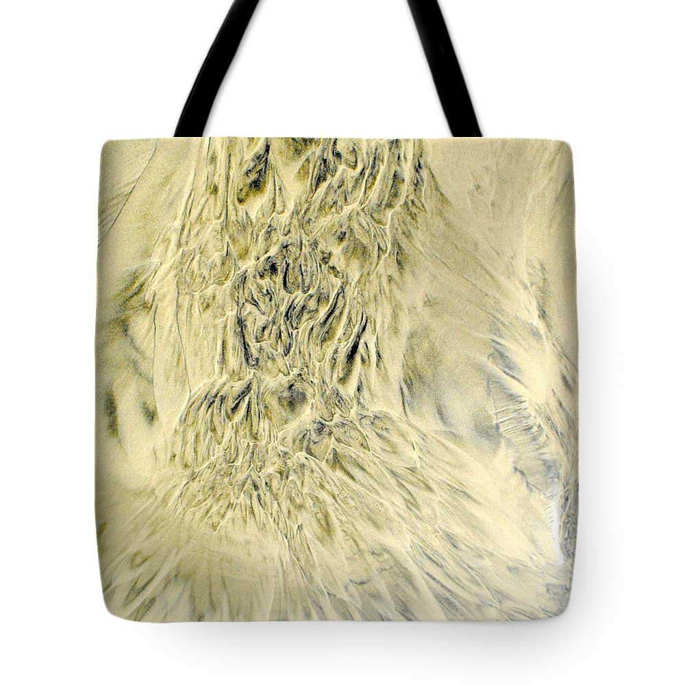 Sand Tote Bag featuring the photograph Sand Painting 2 by Newel Hunter