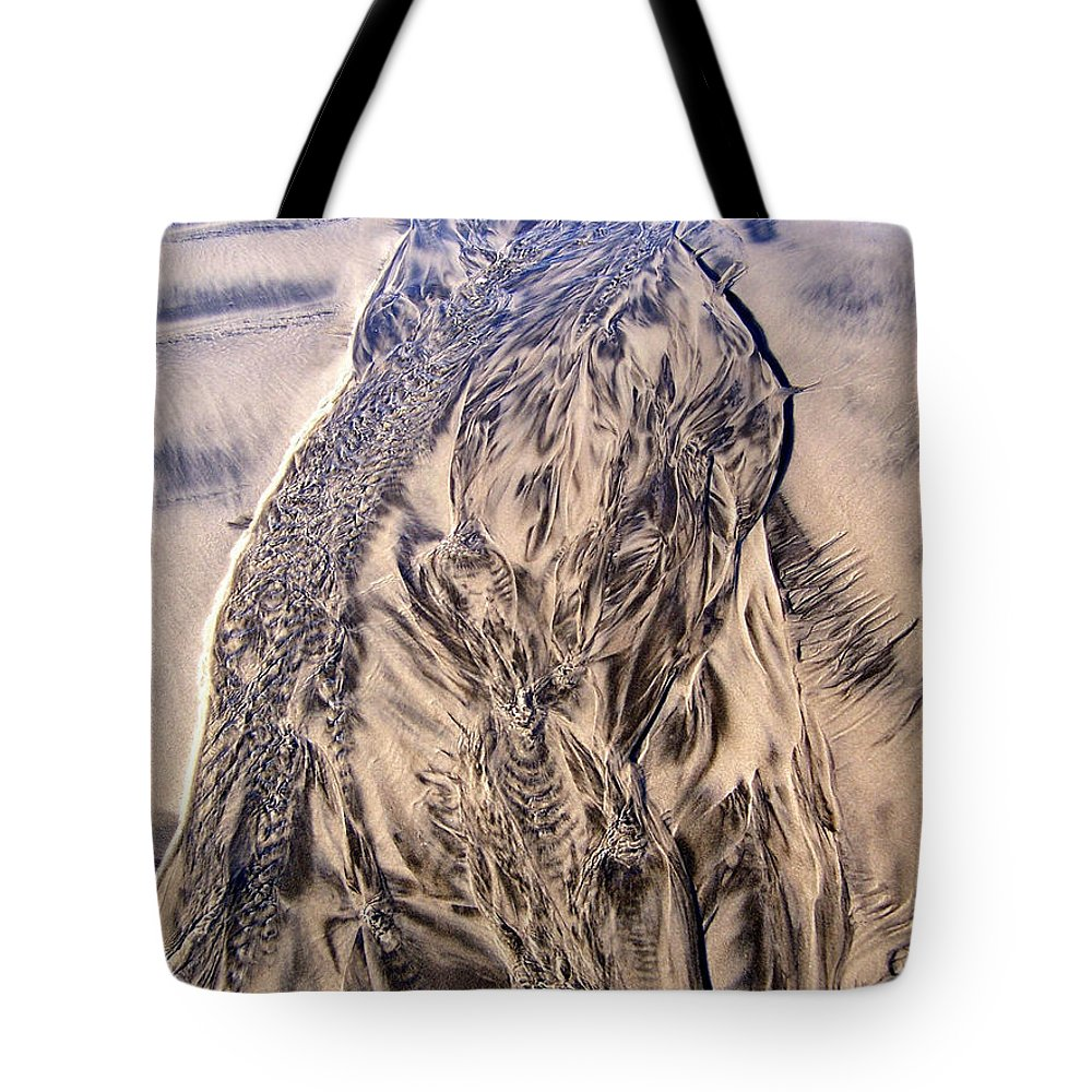 Sand Tote Bag featuring the photograph Sand Painting 55 by Newel Hunter
