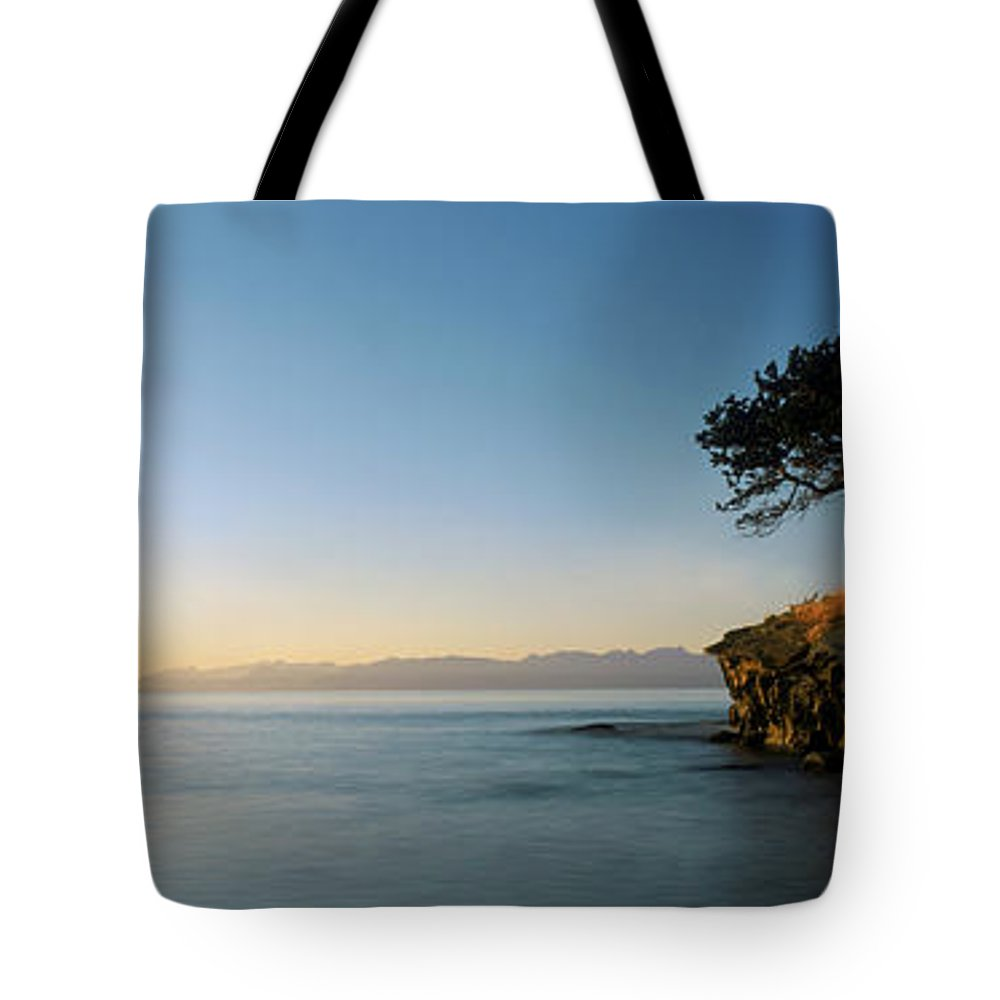 Bay Tote Bag featuring the photograph Sandstone Islet Near Silva Bay by David Nunuk