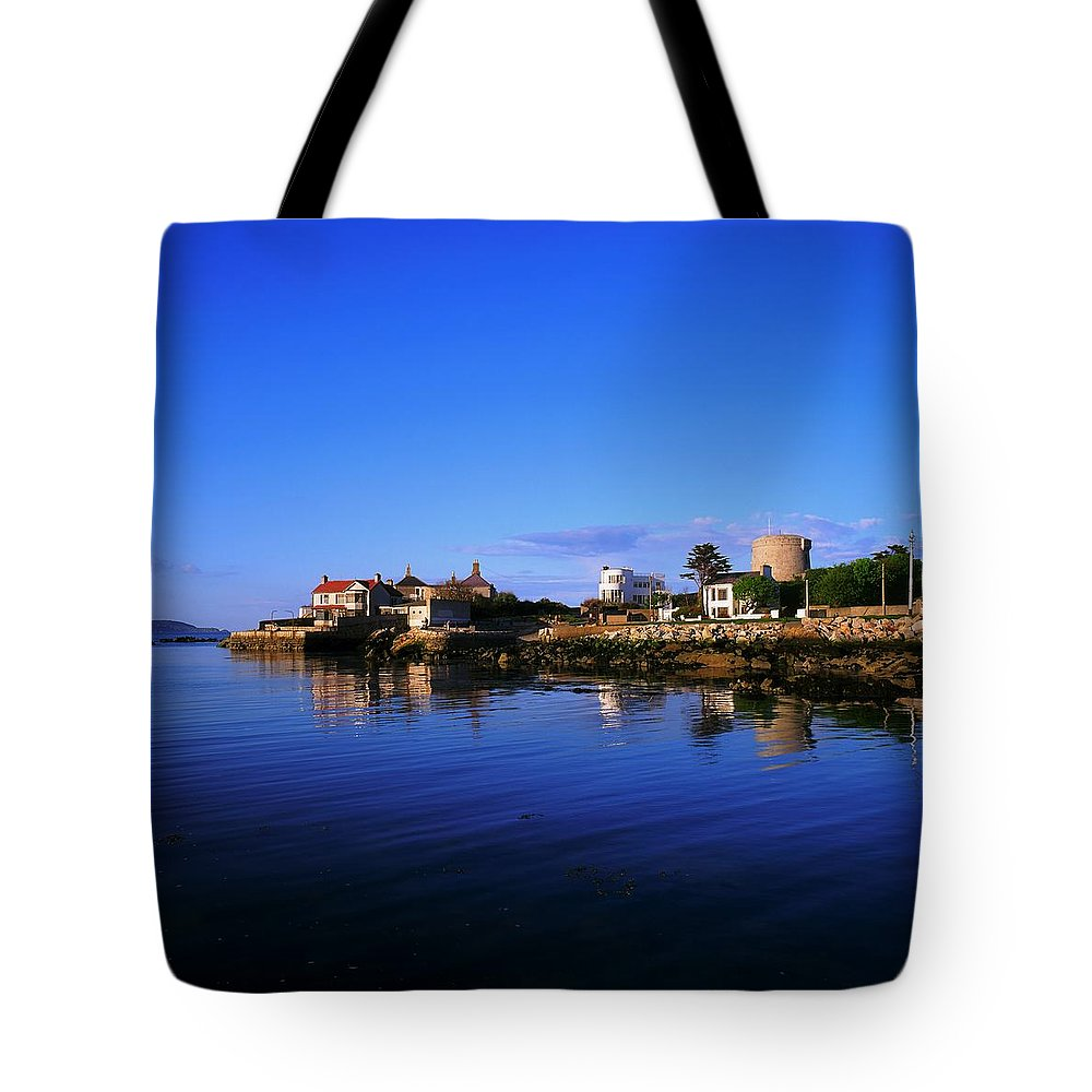 James Joyces Tower Tote Bag featuring the photograph Sandycove, Co Dublin, Ireland The James by The Irish Image Collection
