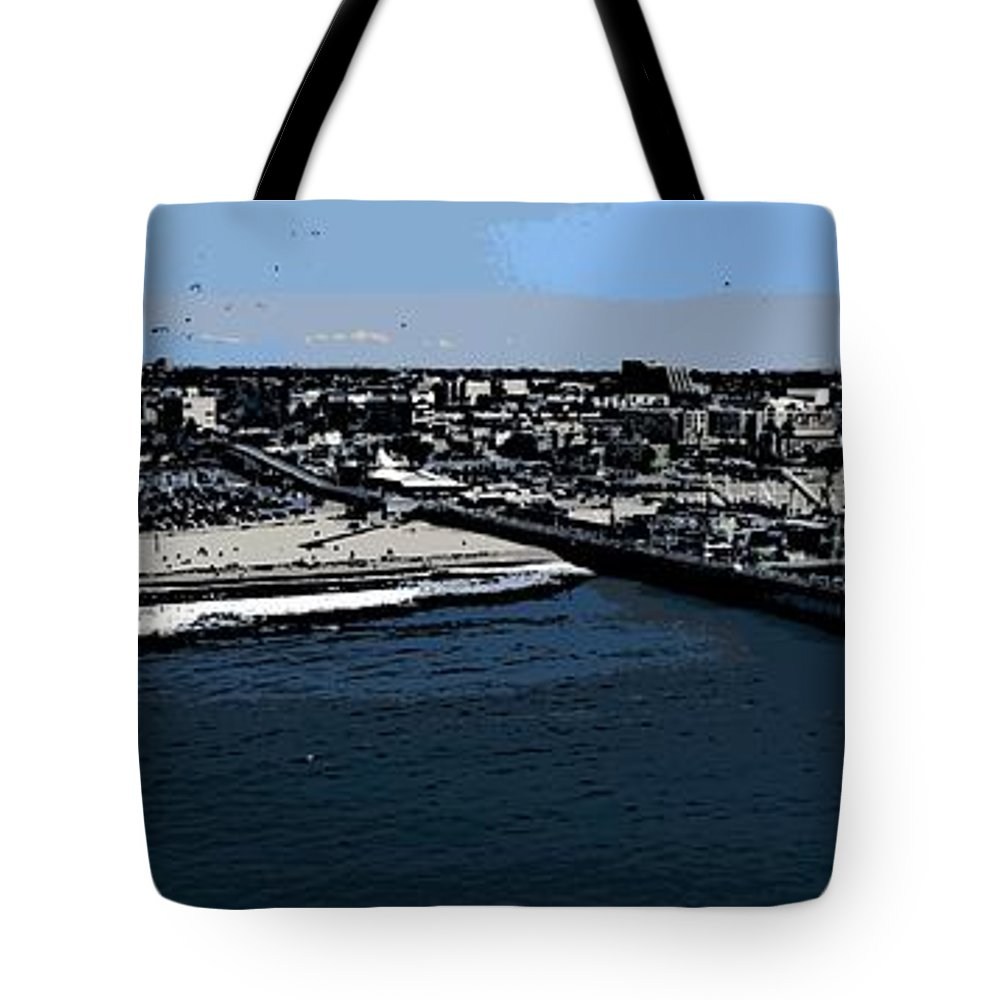Santa Monica Tote Bag featuring the photograph Santa Monica Pier by George Pedro