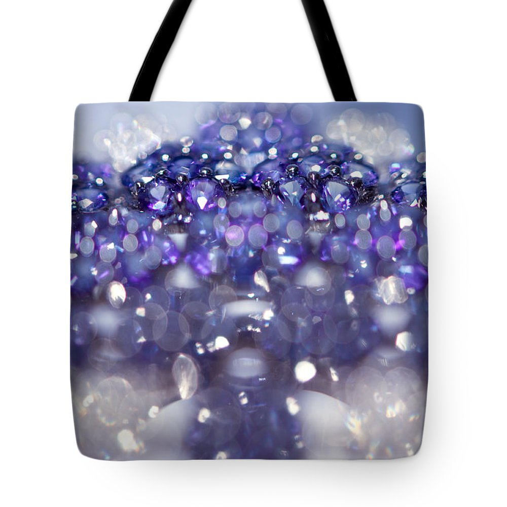 Jewel Tote Bag featuring the photograph Sapphire Brooch. Spirit Of Treasure by Jenny Rainbow
