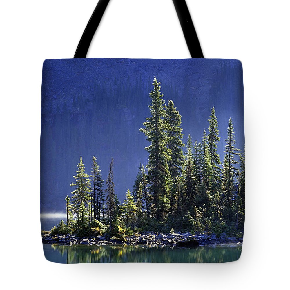 British Columbia Tote Bag featuring the photograph Sargents Point, Lake Ohara, Yoho by John Sylvester