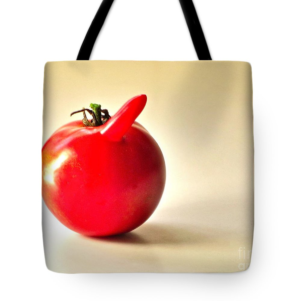 Garden Tote Bag featuring the photograph Saucy Tomato by Sean Griffin