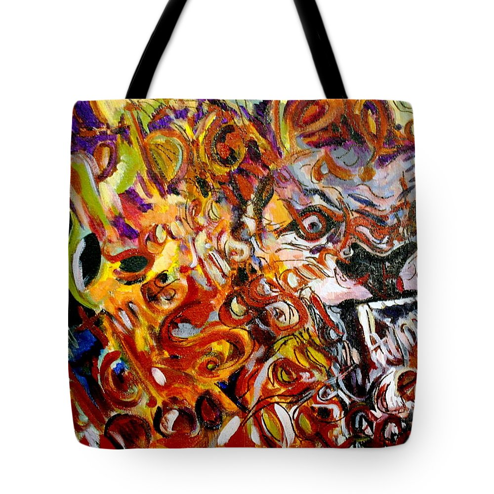 Lion Tote Bag featuring the painting Savannah Lions by Kate Fortin