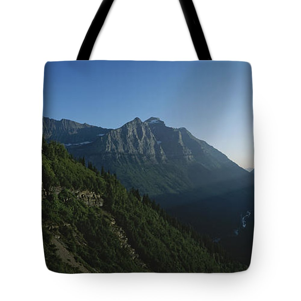 North America Tote Bag featuring the photograph Scenic Overlook In Glacier National by Michael S. Lewis
