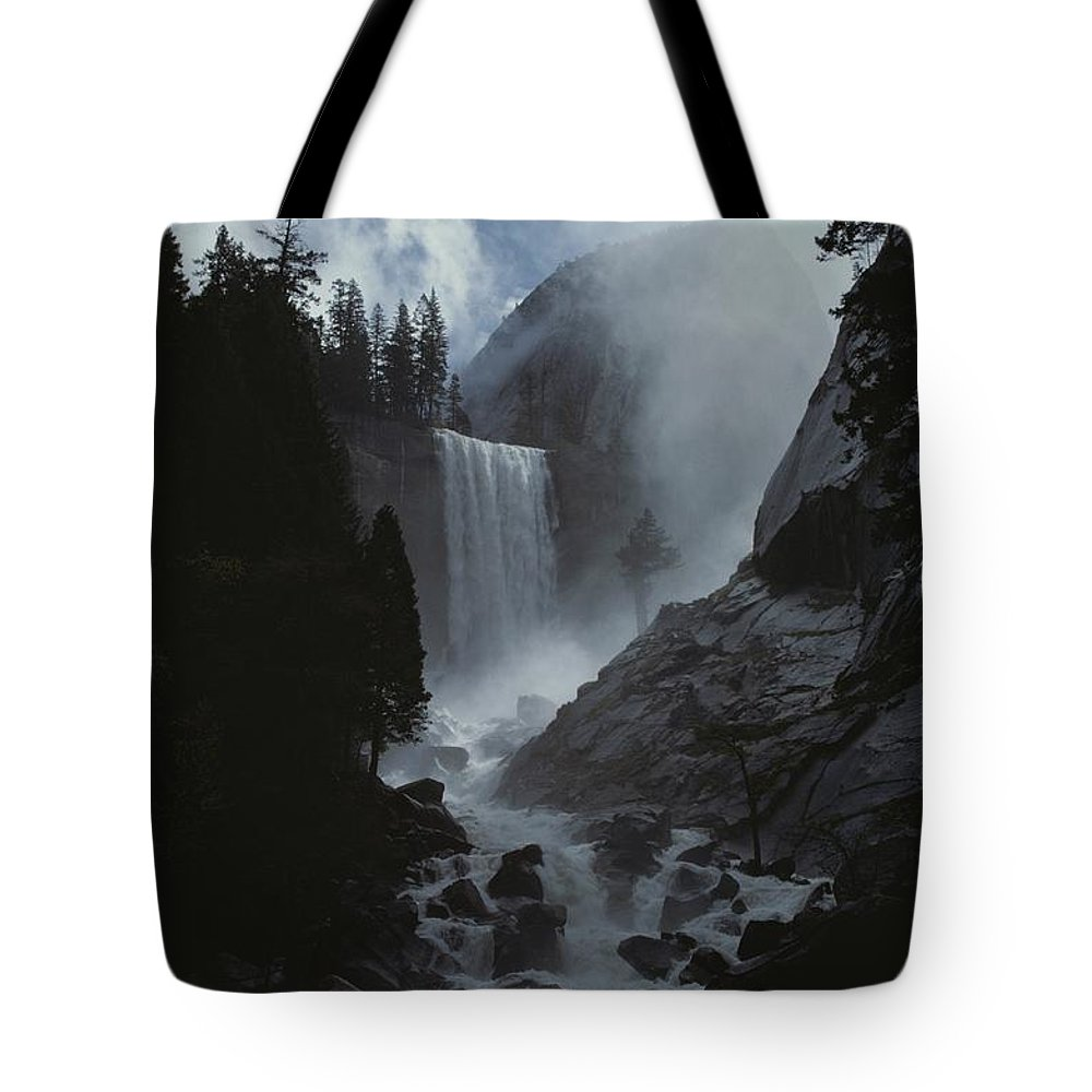 North America Tote Bag featuring the photograph Scenic View Of Vernal Fall by Marc Moritsch