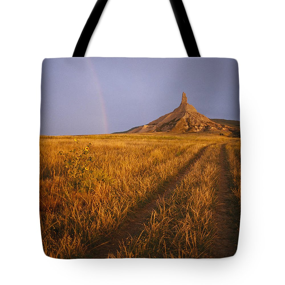 Historic Routes Tote Bag featuring the photograph Scenic View Of Western Nebraska by Michael S. Lewis