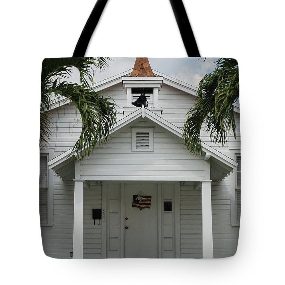 Architecture Tote Bag featuring the photograph School House by Rob Hans