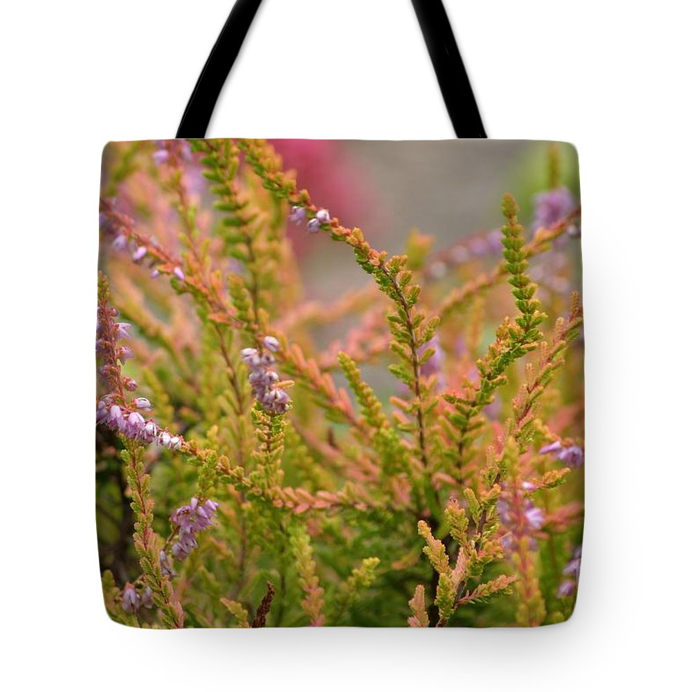 Floral Tote Bag featuring the photograph Scotch Heather by Living Color Photography Lorraine Lynch