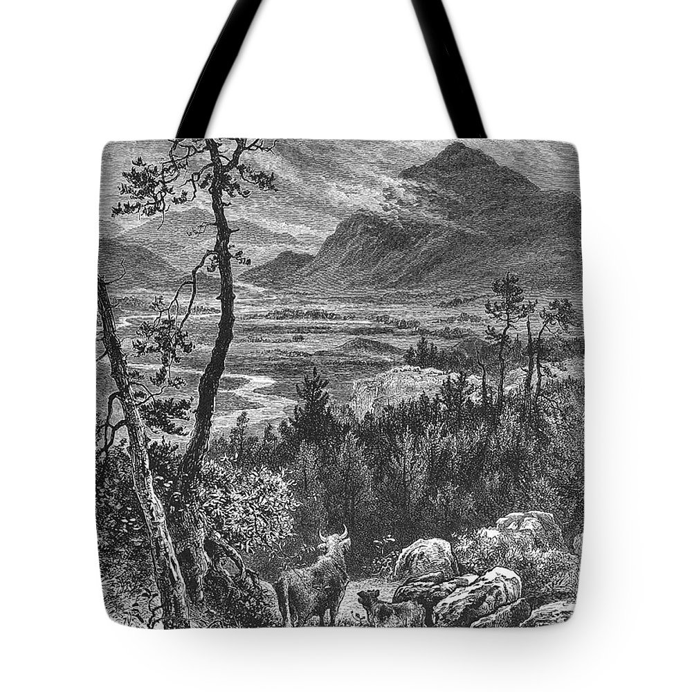 1875 Tote Bag featuring the photograph Scotland: Spey Valley by Granger
