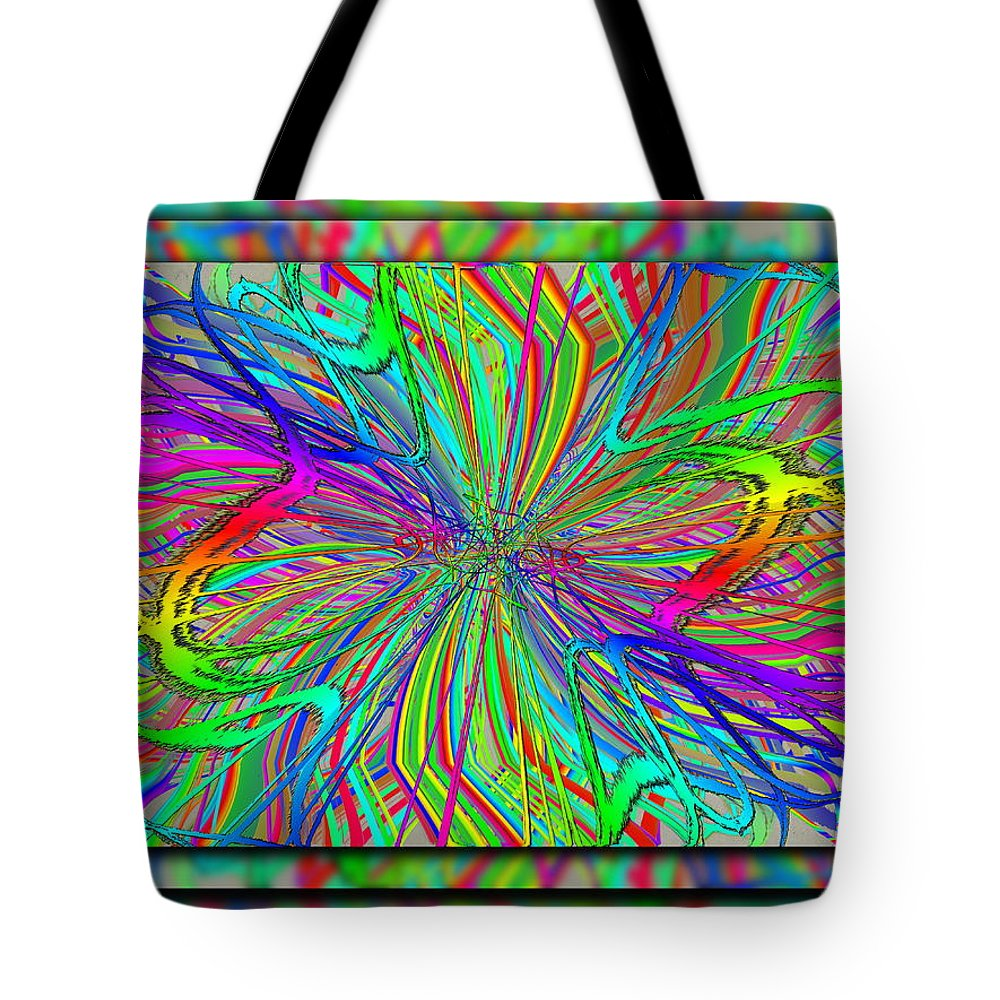 Scribble Tote Bag featuring the digital art Scribbilocity by Tim Allen