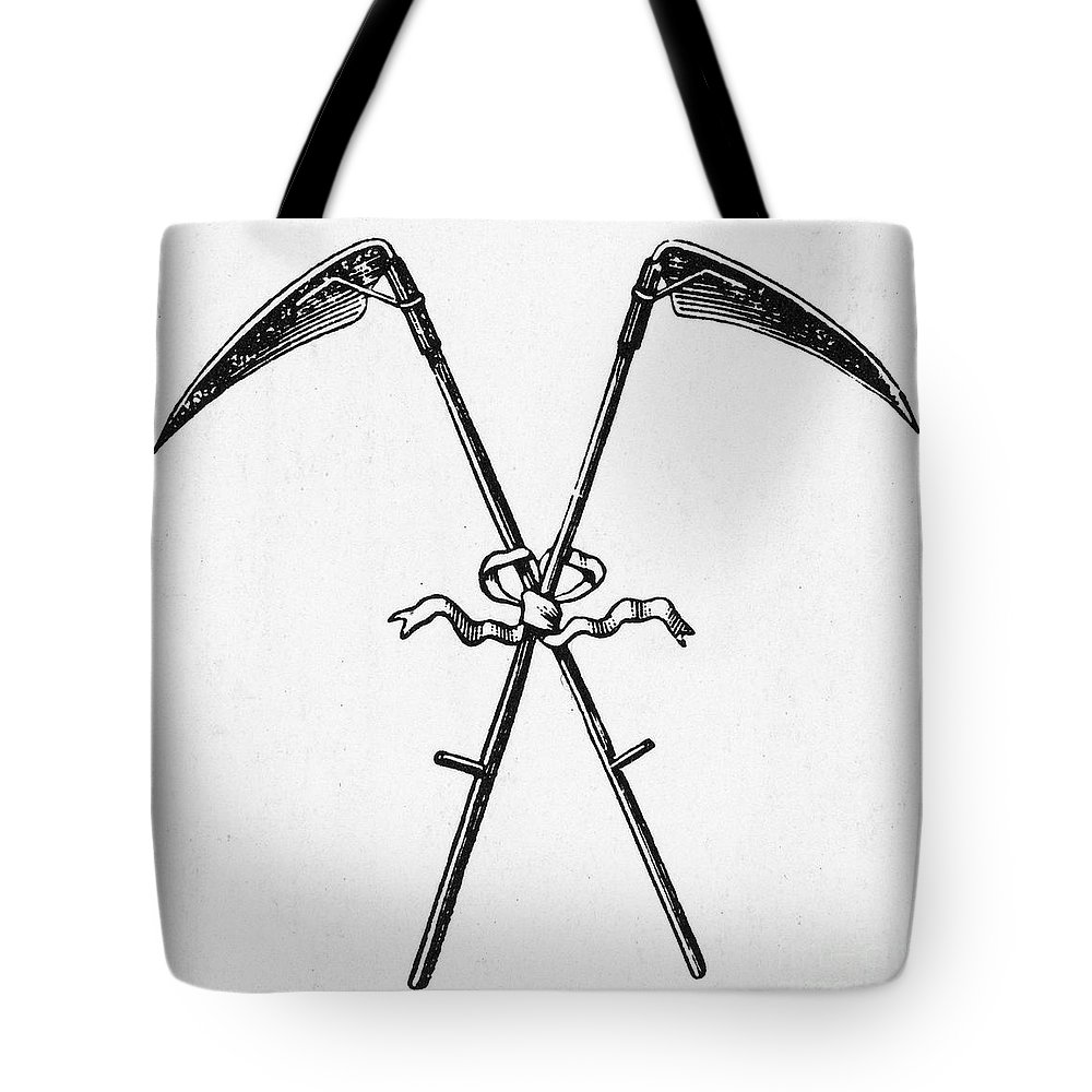 19th Century Tote Bag featuring the photograph Scythes, 19th Century by Granger