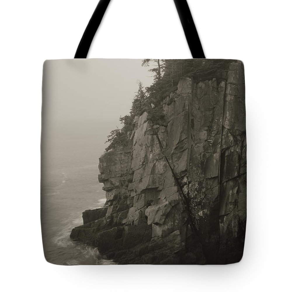 Cliff Tote Bag featuring the photograph Sea Cliff At Quoddy Head by Roupen Baker