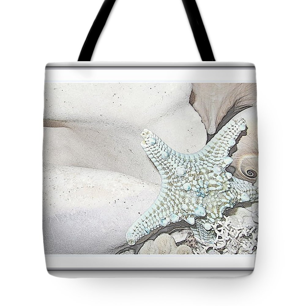 Sea Shells Prints Tote Bag featuring the photograph Sea Foam In Pastels by Danielle Parent