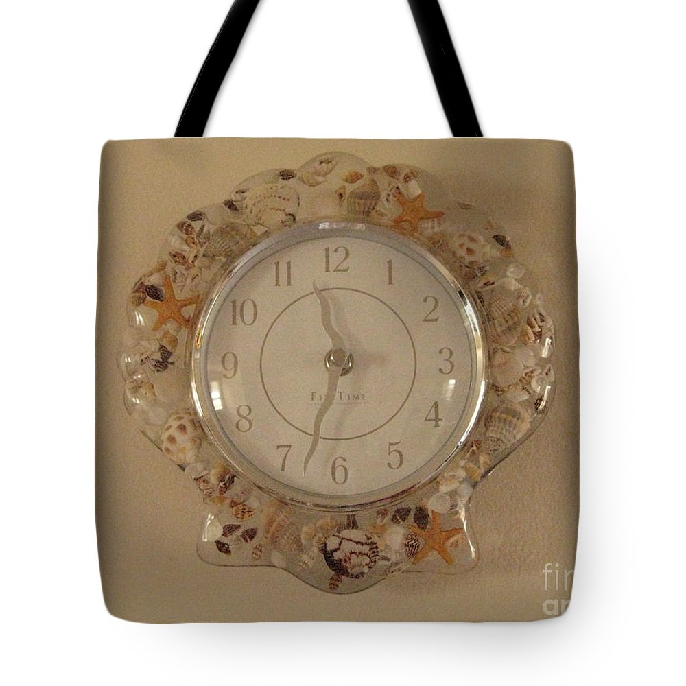 Time Tote Bag featuring the photograph Sea Shells Time by Sonali Gangane