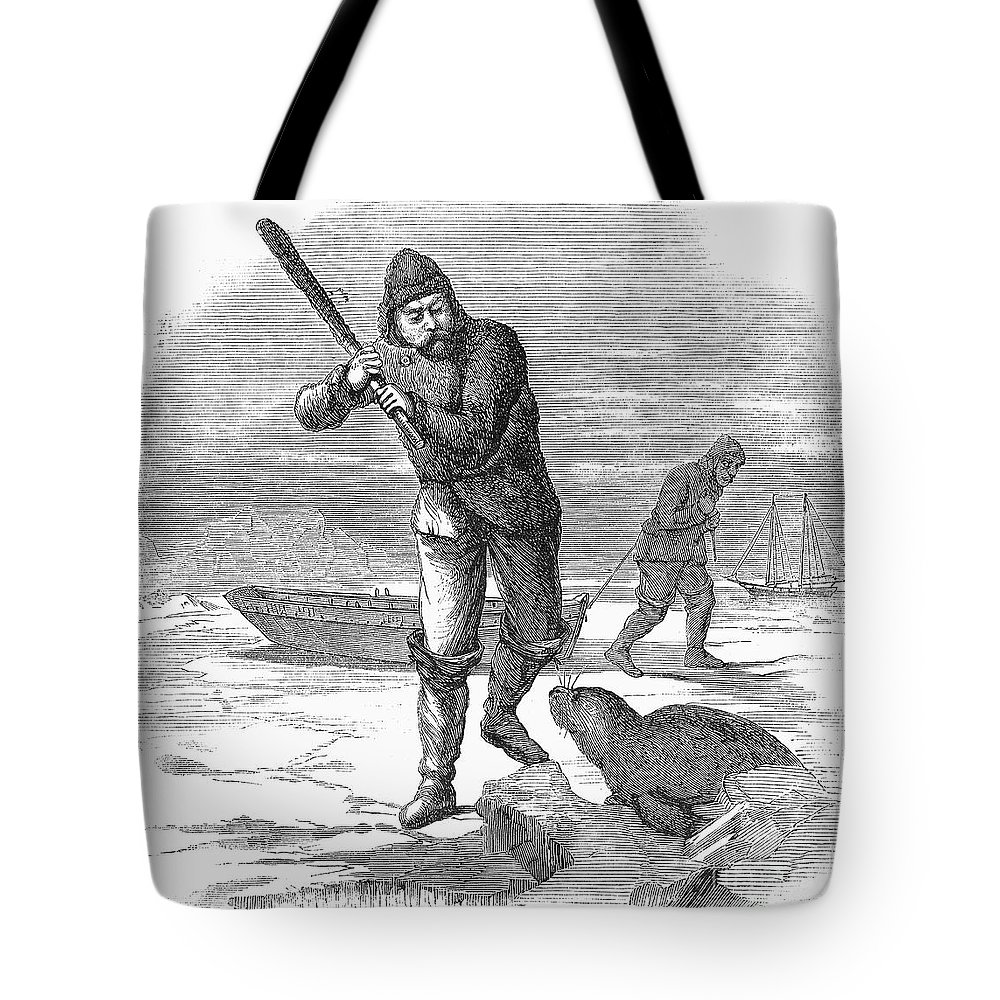 1867 Tote Bag featuring the photograph Seal Hunting, 1867 by Granger