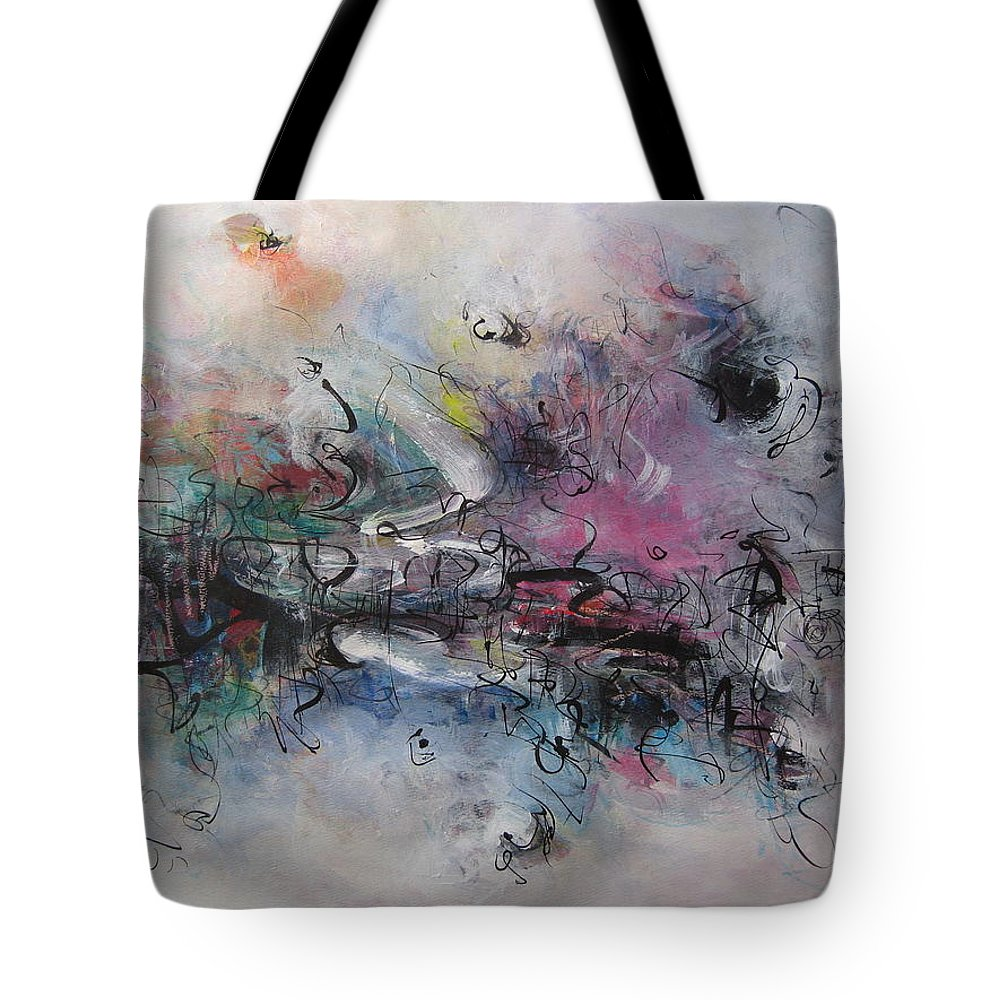 Painting Tote Bag featuring the painting Seascape00037 by Seon-Jeong Kim