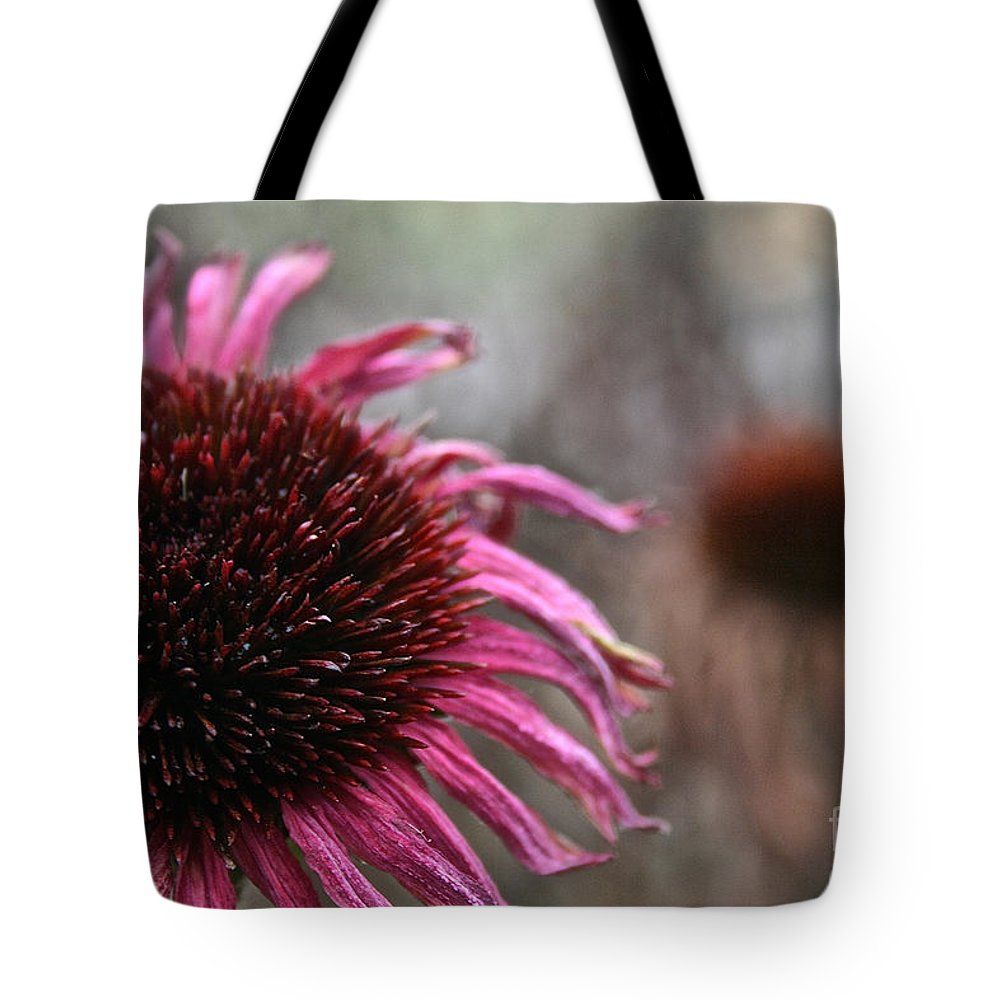 Flower Tote Bag featuring the photograph Season Finale by Susan Herber