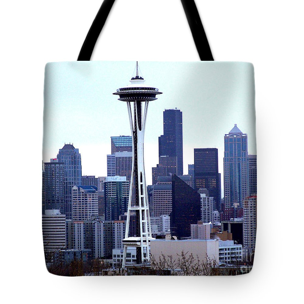 Seattle Tote Bag featuring the photograph Seattle Skyline by Kathy White