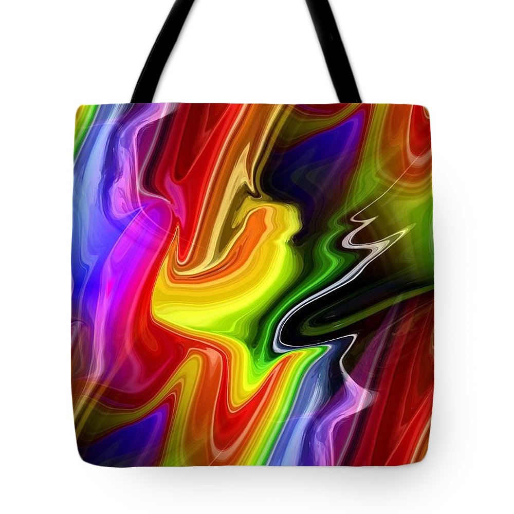 Abstract Tote Bag featuring the digital art Seeds Of Doubt by Chris Butler