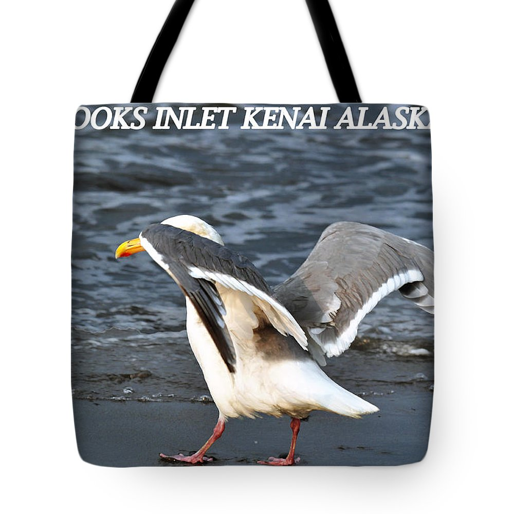 Seagulls Tote Bag featuring the photograph Segull by Debra Miller