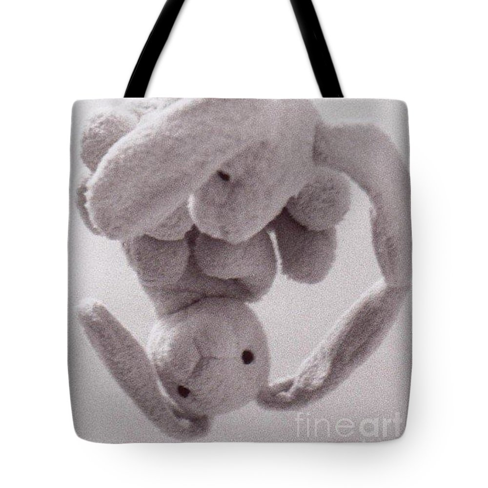 Bunny Tote Bag featuring the photograph Self Contemplation - Reflections Bunny by AE Hansen