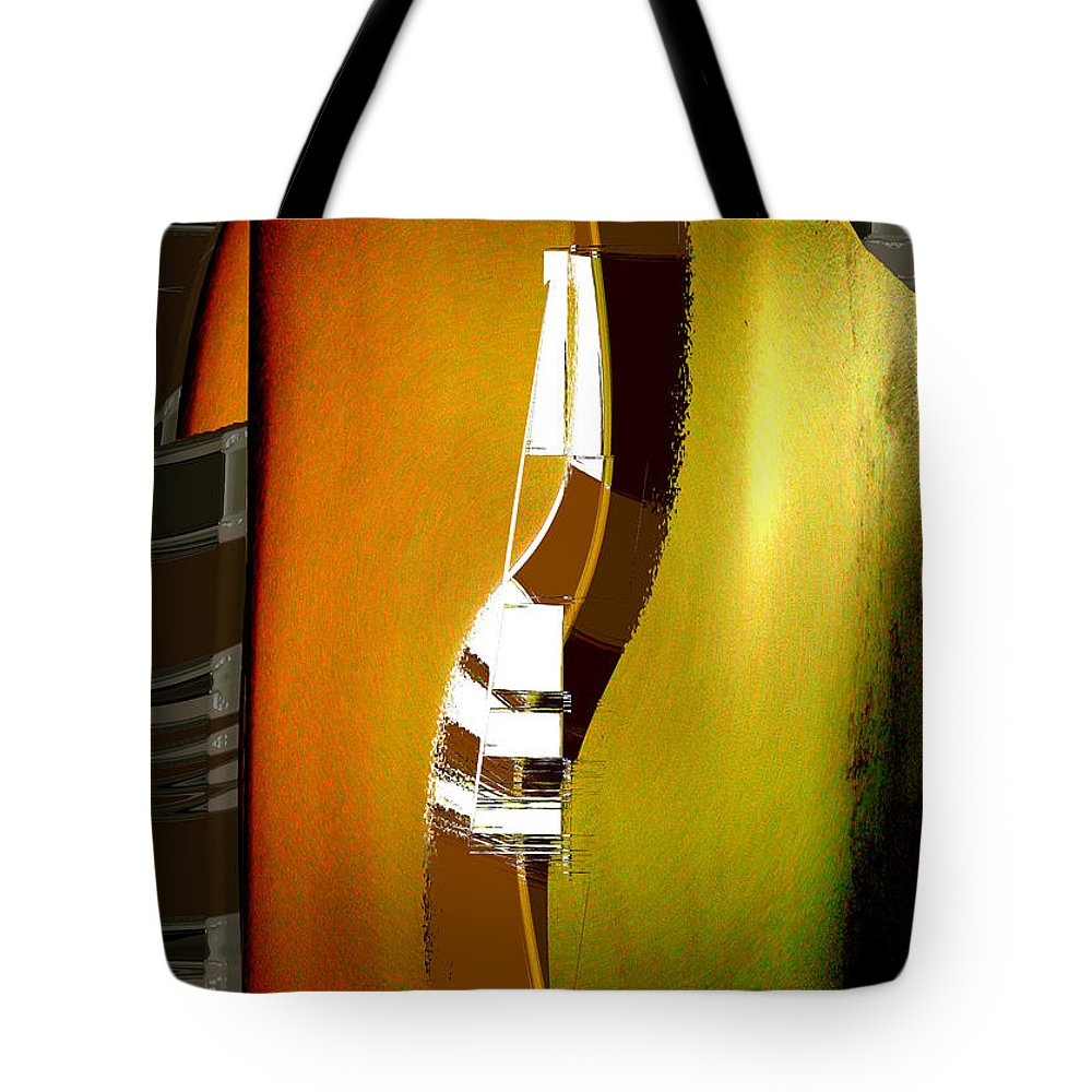 Clothing Tote Bag featuring the digital art Semiformal Tee Shirt And Tie by Tom Hubbard