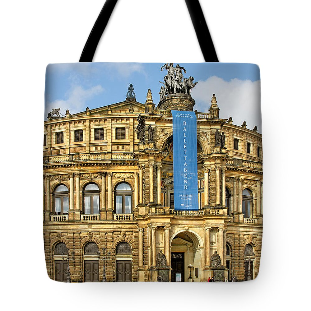 Semperoper Tote Bag featuring the photograph Semper Opera House Dresden by Christine Till