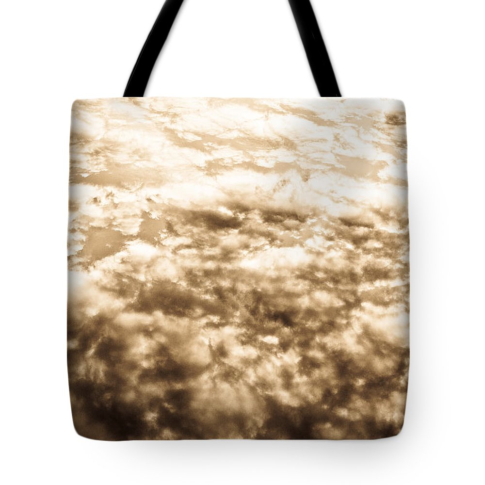 Clouds Tote Bag featuring the photograph Sepia Clouds by David Pyatt