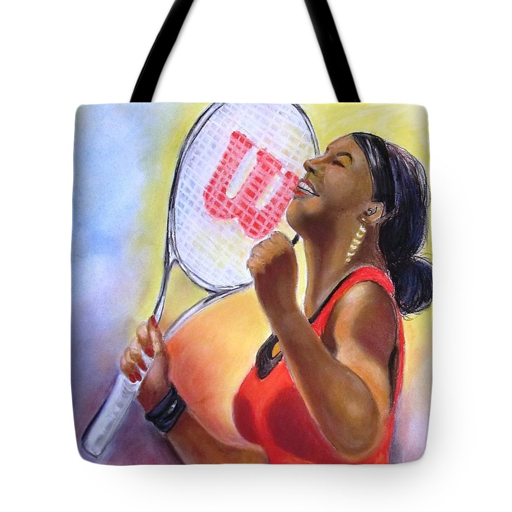 Serena Tote Bag featuring the drawing Serena Shines by Carol Allen Anfinsen