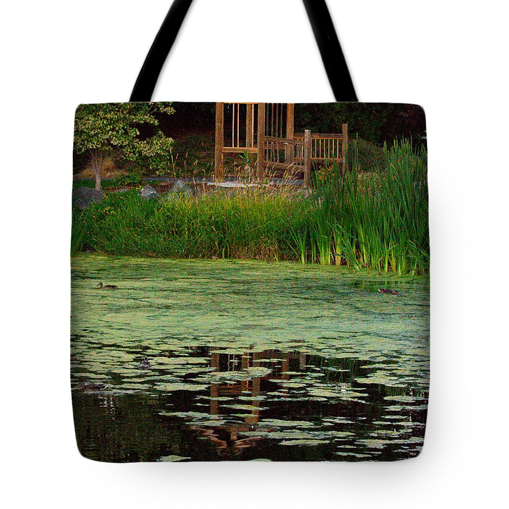 Landscape Art Tote Bag featuring the photograph Serene Reflections by Marie Jamieson
