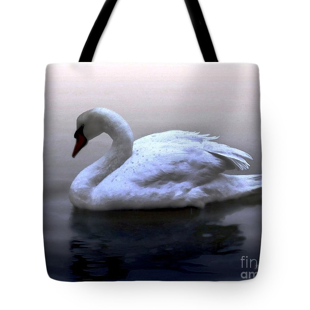 Seabirds Tote Bag featuring the digital art Serenity by Dale  Ford