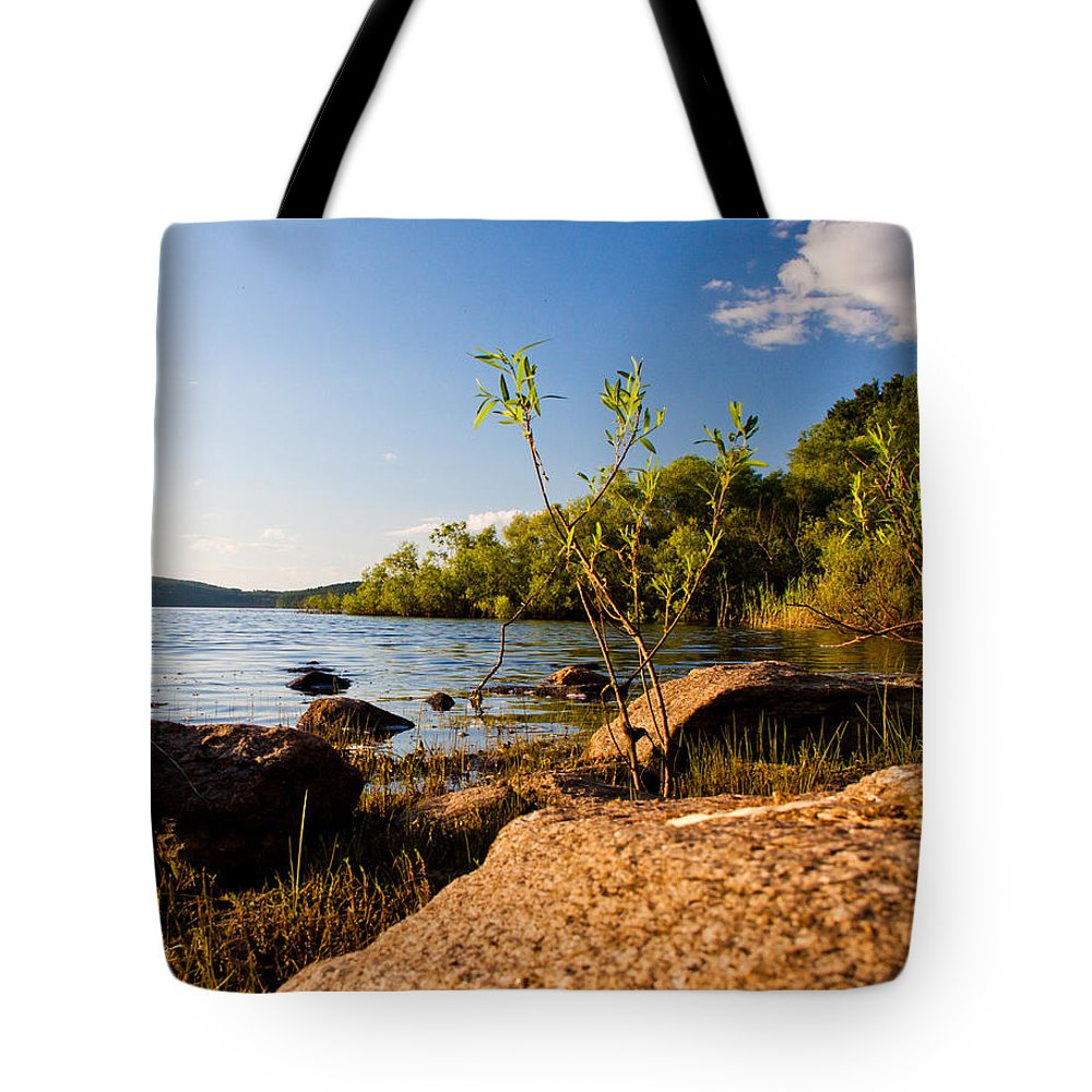 Lake Tote Bag featuring the photograph Serenity by Frank Pietlock