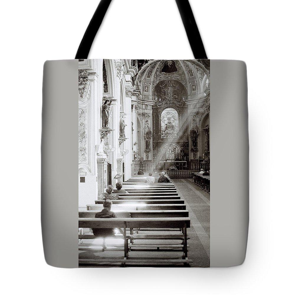 Zen Tote Bag featuring the photograph Zen Of Prayer by Shaun Higson