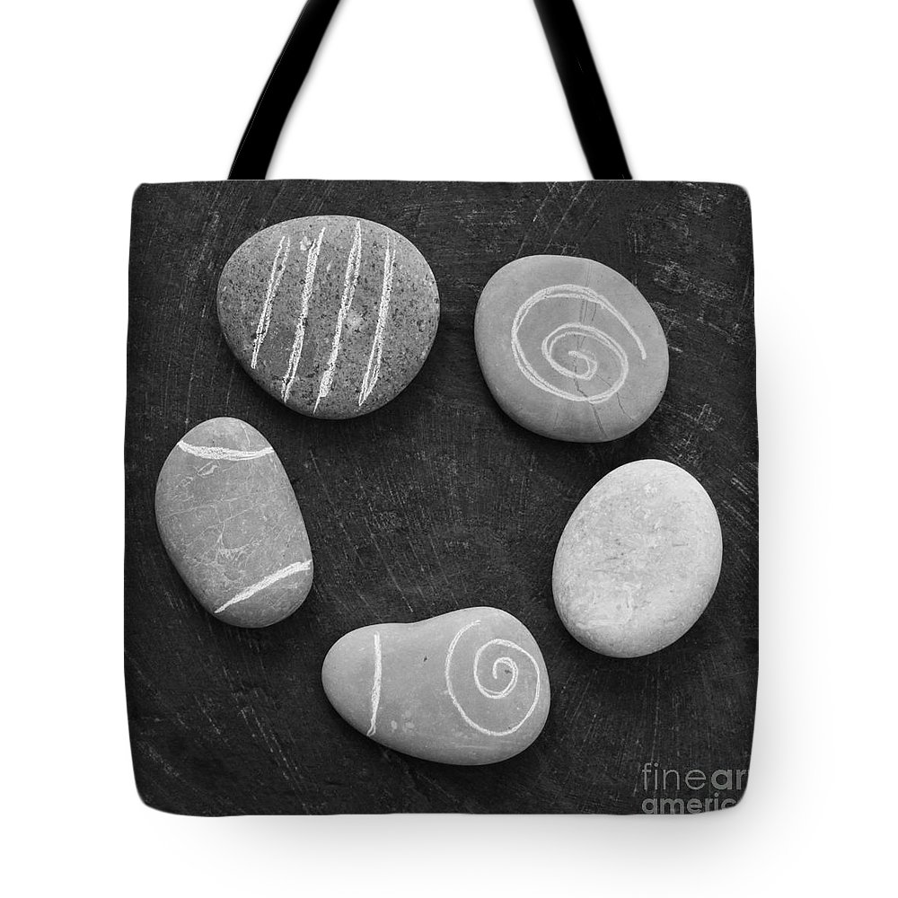 Stones Tote Bag featuring the photograph Serenity Stones by Linda Woods