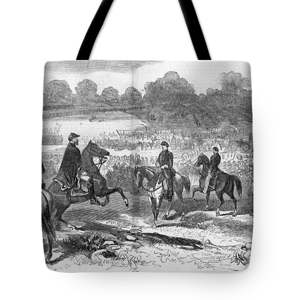 1862 Tote Bag featuring the photograph Seven Days Battles, 1862 by Granger