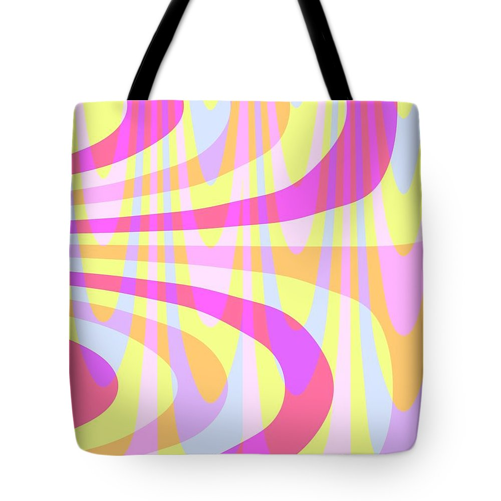 70's Swirls (digital) By Louisa Knight (contemporary Artist) Tote Bag featuring the digital art Seventies Swirls by Louisa Knight
