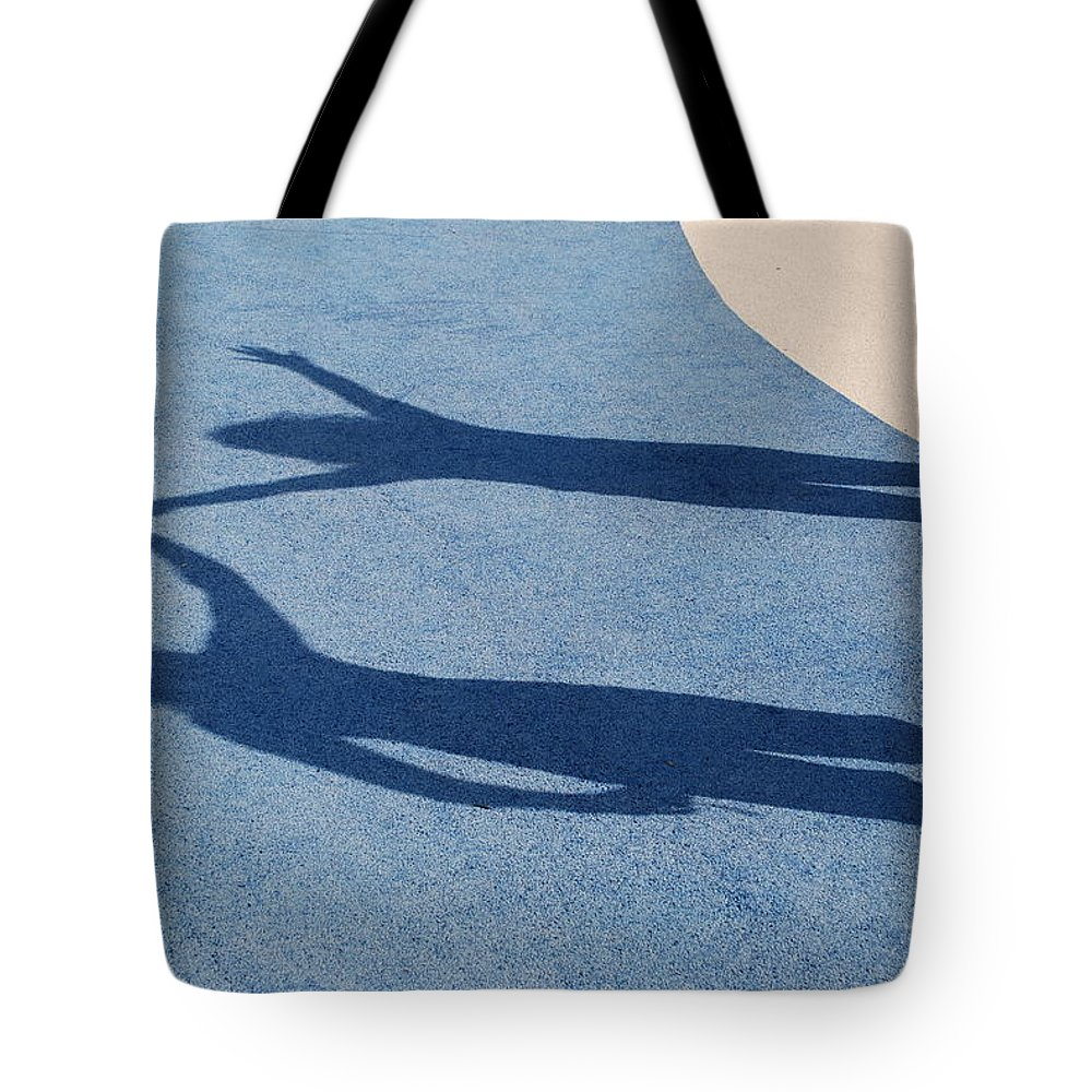 Shadow Tote Bag featuring the photograph Shadow Friends by Richard Bryce and Family