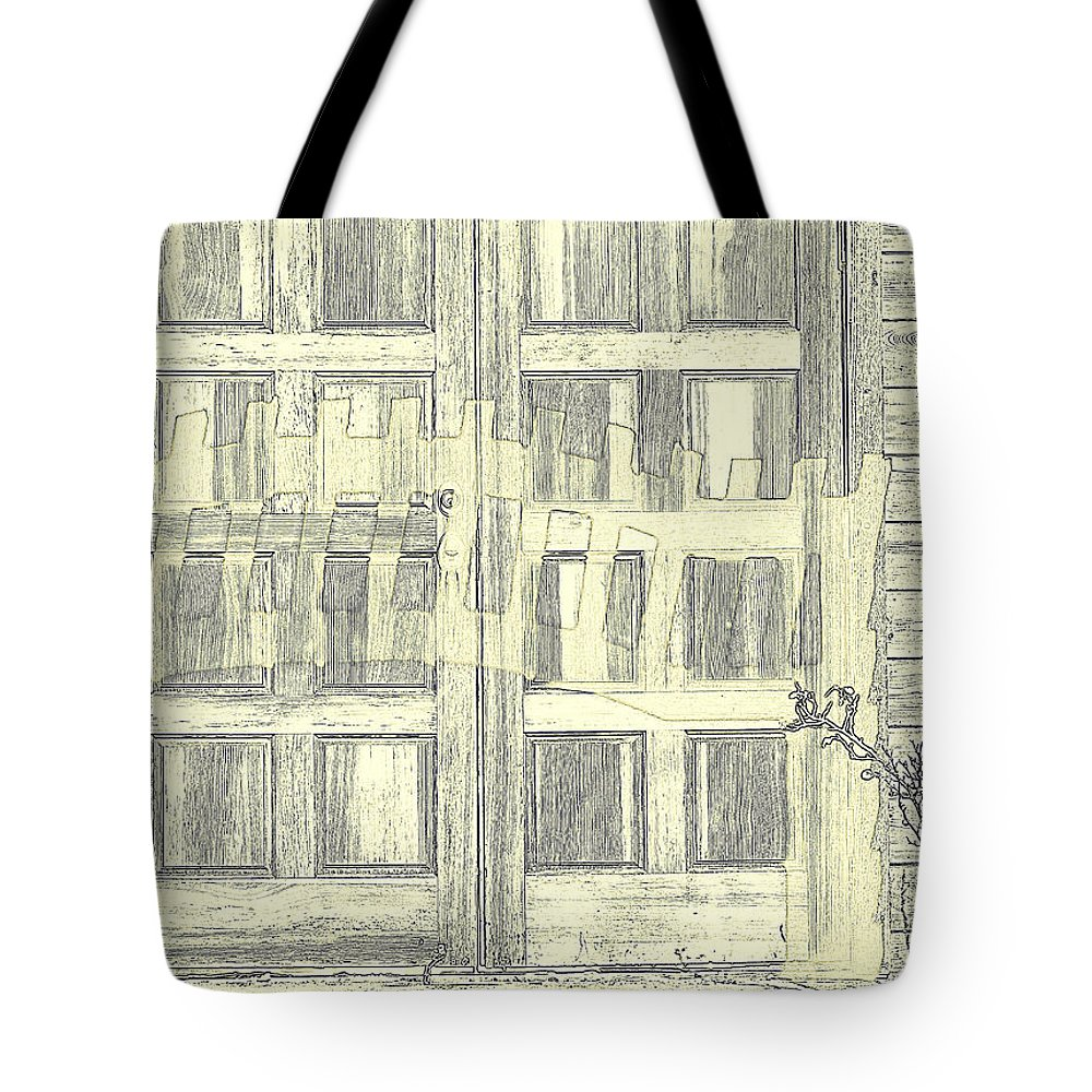Door Tote Bag featuring the photograph Shadow Play by Diane montana Jansson