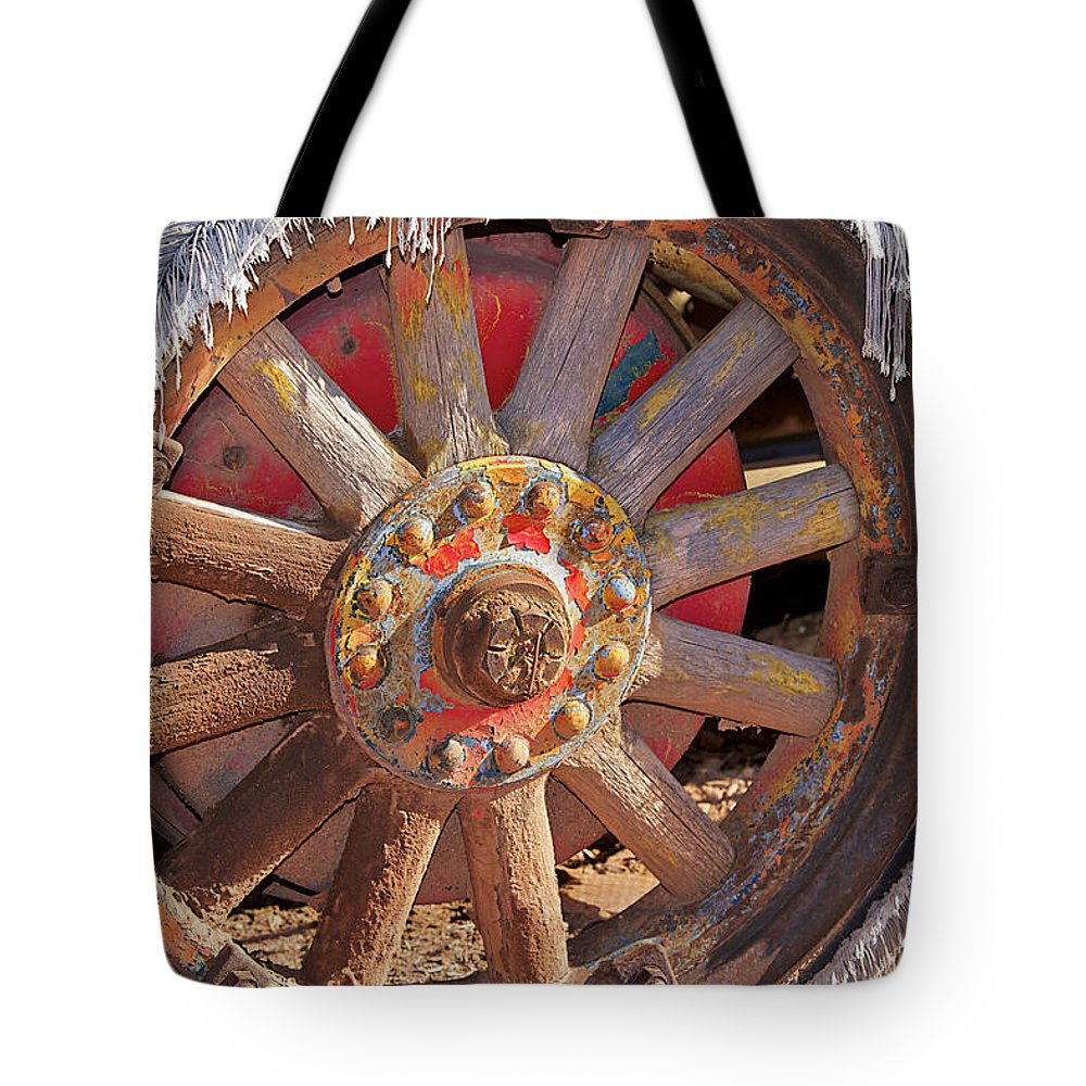 Wheel Tote Bag featuring the photograph Shaggy by Phyllis Denton