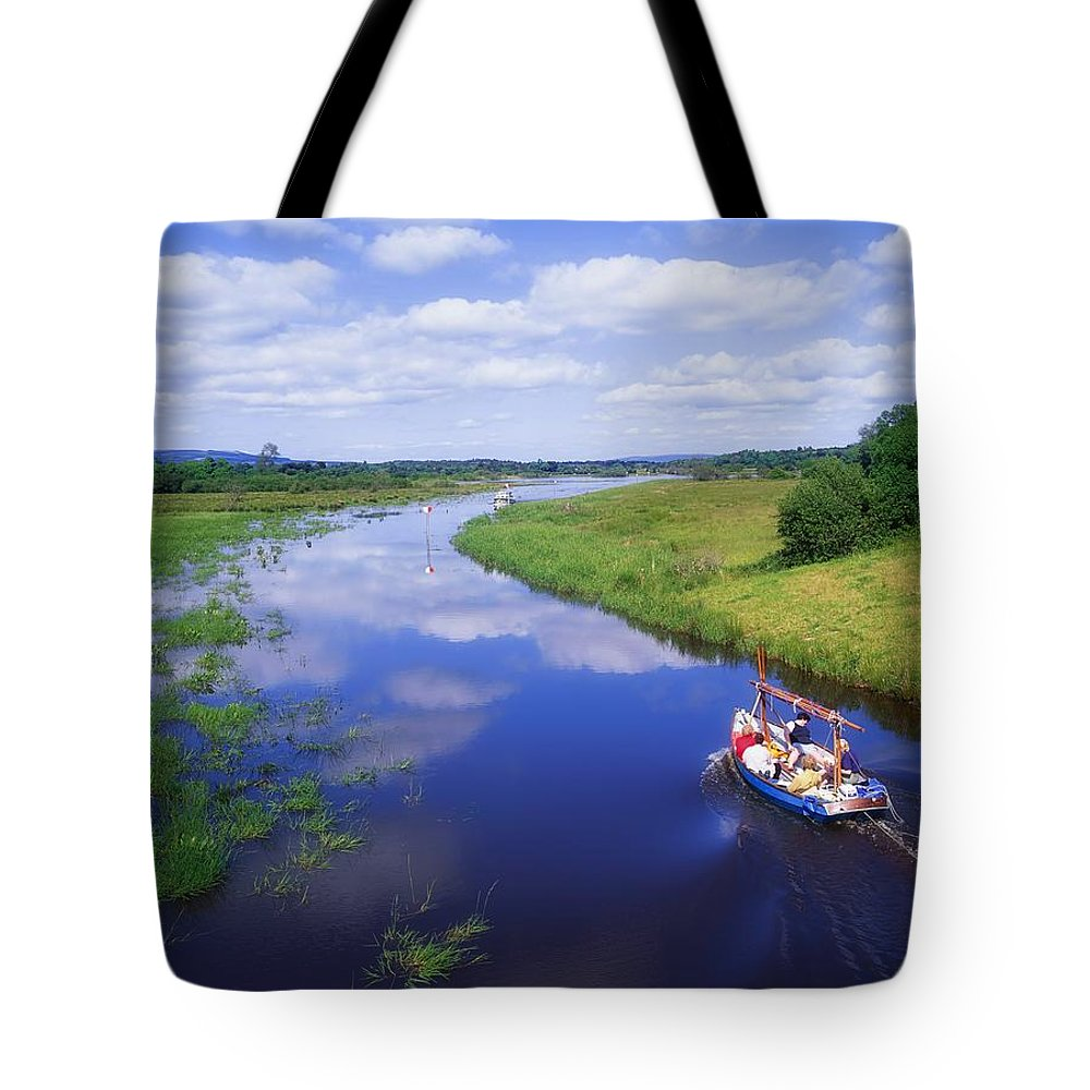 Ballinamore Ballyconnell Canal Tote Bag featuring the photograph Shannon-erne Waterway by The Irish Image Collection