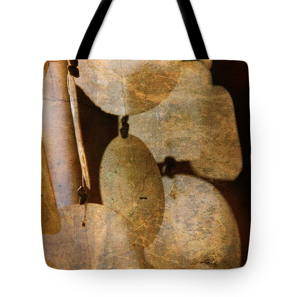 Shell Tote Bag featuring the photograph Shell Wind Chimes by Susanne Van Hulst