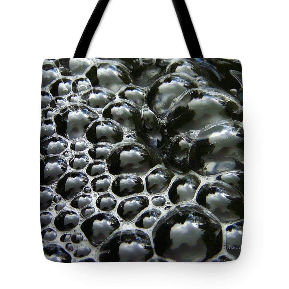 Bubble Tote Bag featuring the photograph Shiney Bubbles by Donna Blackhall